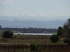 Cherry Creek Lake with the Rocky Mountains...