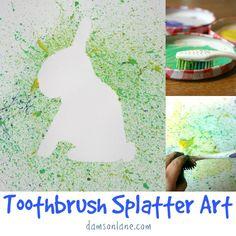 Toothbrush Paint Splatter Art