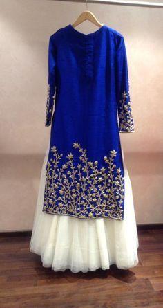 23 Trendy Ideas for indian bridal wear anarkali royal blue Pakistani Dresses, Indian Dresses, Indian Outfits, Party Wear Lehenga, Bridal Lehenga, Anarkali Lehenga, Indian Attire, Indian Wear, Indian Tunic