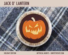 Jack O' Lantern Merit Badge  1 Pinback Button or by IgniteTheSky