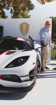 Koenigsegg One:1 and the man himself