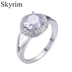 Wedding & Engagement Jewelry Dynamic Yunkingdom Brand Crystals Engagement Ring Wholesale 3 Colors Cubic Zirconia Elegant Fashion Square Jewelry Rings For Women Elegant Appearance