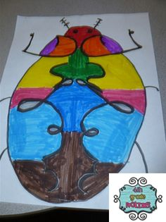 4th Grade Frolics: Reflection Bugs! More Math and Art
