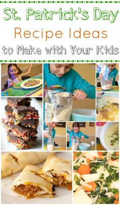 St. Patrick's Day Recipe Ideas - Such a great way to introduce kids to new traditions & spend quality time together!