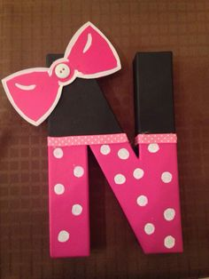 Minnie Mouse Letter Art Mickey Mouse Club House Letter Art
