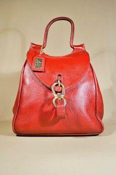 Vintage Burgundy de Belon Brabeloo Leather Bag by AllVintageBags
