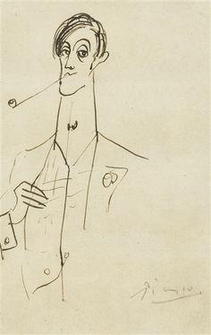 Pablo Picasso (1881-1973) genial pintor y escultor español, creador del cubismo junto con Georges Braque. Retrato de Ángel Fernandez de Soto.