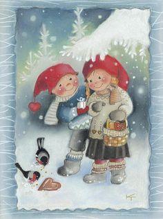 special noel - Page 3 Illustration Noel, Christmas Illustration, Illustrations, Christmas Clipart, Vintage Christmas Cards, Christmas Gnome, Christmas Art, Clipart Noel, Artists For Kids