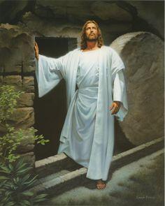 Jesus Upon Resurrection - art by Simon Dewey