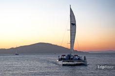 Sunset sailing in San Francisco