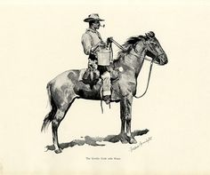 Frederic Sackrider Remington was an American painter, illustrator, sculptor and writer who specialized in depictions of the American Old West. Art Prints For Sale, Fine Art Prints, Frederic Remington, Animal Art Prints, Old West, Western Art, Giclee Print, Westerns, Illustrator