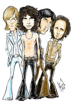 someone finally drew something of the doors not just jim morrison
