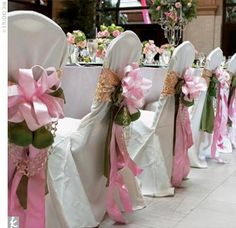 large silk floral arrangements for church | add sparkle to 40 church pew bows she made using pears and pink silk ...