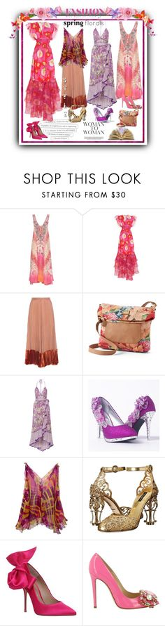 """Spring Floral Fashion"" by lawvel ❤ liked on Polyvore featuring Alexander McQueen, Camilla, Isolda, Valentino, Stella & Max, Marc Jacobs, Dolce&Gabbana, Kurt Geiger and GEDEBE"