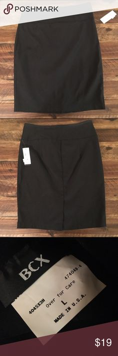 Black Stretchy Pencil Skirt Pull on stretch pencil skirt, slit in back. BCX Skirts Pencil