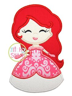 "Princess 3 Applique Design, Shown with our ""Twinkle Star andCutie Patootie"" Fonts NOT Included, sizes in 4x4, 5x7, & 6x10 INSTANT DOWNLOAD by TheItch2Stitch on Etsy https://www.etsy.com/listing/208380292/princess-3-applique-design-shown-with"