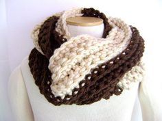 Chunky Chocolate and Vanilla Twist Scarf... this is so beautiful... like the colors