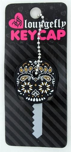 Loungefly Black White Gold Sugar Skull Day of the Dead Tribal Key Cap Cover Grunge, All Souls Day, Mexican Holiday, All Saints Day, Key Caps, Black White Gold, Take My Money, Sugar Skulls, Halloween Skull