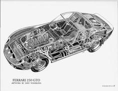 torinotalladegamark2:  Ferrari 250 GTO By Shin Yoshikawa. http://www.kaiartintl.com/