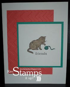 Kim Stamps It Up!: Storybook Friends Kitten Card