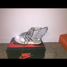 huge discount eaae8 53e8d Jeremy Scott x Adidas Shoes   Silver Jeremy Scott Foil Wings   Color  Silver