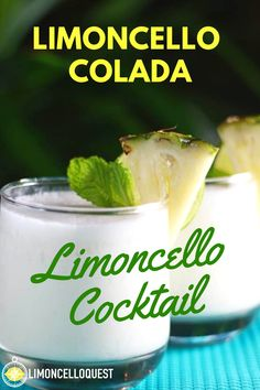 "This limoncello drink is obviously named after the goofy 70s song that sticks in your head for days. I'm hoping that effect will carry over to the drink and eventually you'll say ""all right already, dammit, I'll make the drink!"" #limoncellodrinks #limoncellococktails #mixeddrinks #cocktails #pinacolada #drinks #easycocktails"