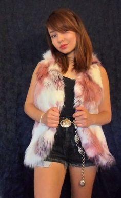 Faux Fur Vest (Tricolor).