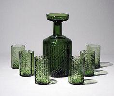 Flindari decanter and glasses designed by Nanny Still, 1963