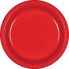 These 10 in. red plastic plates are very durable. It is the perfect dinner plate for any summer bbq. They are very affordable and easy to clean up.