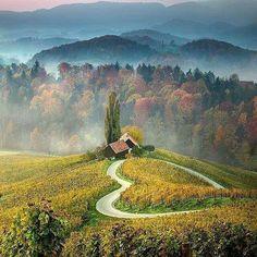 Heart shaped road, Slovenia Your holidays in Slovenia! Contact us on Skype: e-growman or e-mail us: jiznelub@gmail.com
