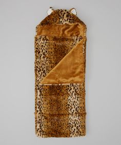Look what I found on #zulily! Tan Cheetah Hooded Blanket #zulilyfinds
