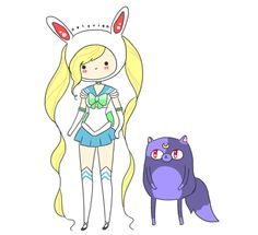 fiona and cake meets sailor moon.