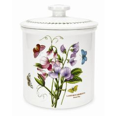 Features:  -Botanic Garden collection.  -Material: Earthenware.  -Contemporary style.  Function: -Decorative.  Food Safe: -Yes.  Product Type: -Canister.  Color: -Multi.  Dishwasher Safe: -Yes.  Micro
