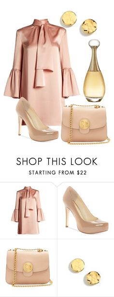 """""""Satin mini dress"""" by michellesfashioncompany ❤ liked on Polyvore featuring Fendi, Jessica Simpson, Chloé, Kenneth Cole and Christian Dior"""
