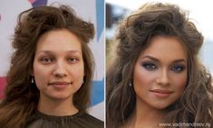 """Proving that Photoshop and surgery are not the only paths to a beautiful face, Russian makeup artist Vadim Andreev uses ONLY cosmetic tricks to transform these women. Results are staggering (not counting the one guy in the group, who looks severely jaundiced). Some of the """"before"""" shots might cause you to cringe if you ran into them on the street, but """"after""""---wow. I'd love to see what he could do with me, but then how would I explain to my new bae why he's never seen me without makeup?"""