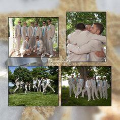 Fauquier Fotos | Warrenton, VA | Posts, wedding, groomsmen, blue ties, beige suits, attire, photos
