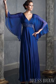 Gorgeous Empire V-Neck Illusionide Mother of the Bride. DRESS IDEA FOR ANN :) We love!