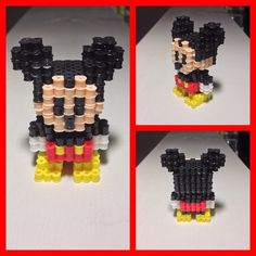 3D Mickey Mouse perler beads by sicilianguidooo (original design: Voxelperlers)