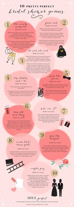 10 Pretty Perfect Bridal Shower Games - Aisle Perfect