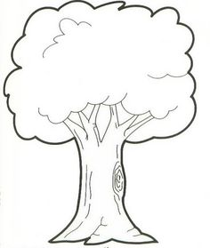 Ağaç Boyama Sayfası Googleda Ara çocuk Gelişim Tree Leaves