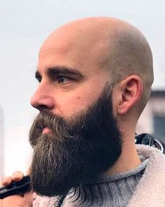 Bald Men With Beards, Bald With Beard, Long Beards, Long Beard Styles, Hair And Beard Styles, Shaved Head With Beard, Viking Beard, Beard Game, Beard Model