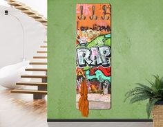 #Kindergarderobe - Graffiti - Garderobe Kinder #Graffiti #sprayen #streetlife #skater #yolo