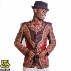 african print wax blazer men