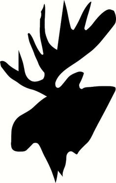 vinyl wall decal Moose head silhouette by WallDecalsAndQuotes