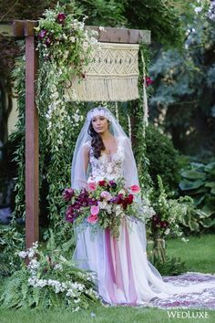 This ethereal, eclectic look is topped only by this romantic veil! | Photography By: Krista Fox Photography | WedLuxe Magazine | #WedLuxe #Wedding #luxury #weddinginspiration #luxurywedding #veil