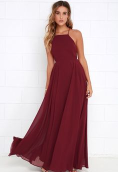 2018 Popular Halter Chiffon Long Prom Dress,A-line Burgundy Dark Green Party Long Dress sold by SexyPromDress. Shop more products from SexyPromDress on Storenvy, the home of independent small businesses all over the world. Trendy Dresses, Sexy Dresses, Cute Dresses, Beautiful Dresses, Formal Dresses, Long Dresses, Plain Prom Dresses, 1950s Dresses, Formal Outfits