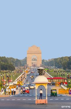 Rajpath is the ceremonial boulevard in New Delhi, India. The avenue is lined on both sides by huge lawns, canals and rows of trees