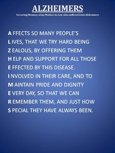 Alzheimers  Written by Kelly Kiser