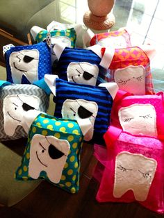 Tooth Pillow w/pocket Tooth Fairy or Tooth Pirate