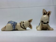 Vintage miniatures porcelain figurines White by ChildrenDreamBig, $7.00